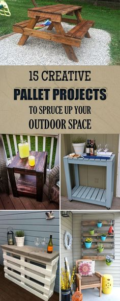 15 Creative Pallet Projects to Spruce Up Your Outdoor Space