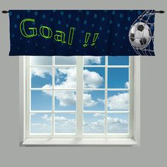 Custom Window Curtain Soccer Goal Valances or by redbeauty on Etsy