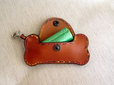 Bone, to bring our dog, made handmade leather bags. Handmade Leather Bone to…