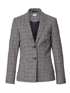 Mona, Desiderata, Blazer, Elegant, Outfit, Fashion, Style, Plaid Coat, Checkered Skirt