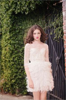 Sarah Seven 2014 Spring Collection is simply divine - her use of ruffles, delicate fabrics and flowing layers.