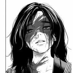 Bakugou Manga, Manga Girl, Dark Anime Girl, Anime Art Girl, Anime Monochrome, Yandere Anime, Cute Girl Drawing, Arte Sketchbook, Gothic Anime