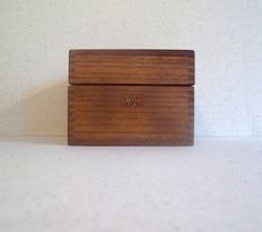 Vintage Weis Index Recipe Box Dovetailed Signed Wood Oak