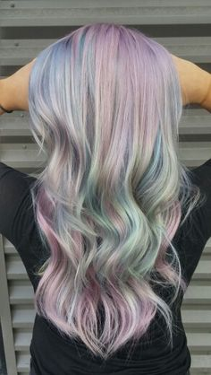 Sexy & Expressive Opal Hair Color For Every Occasion - EcstasyCoffee Cabello Opal, Opal Hair, Pastel Blue Hair, Unicorn Hair, Mermaid Hair, Rainbow Hair, Crazy Hair, Hair Art, Pretty Hairstyles