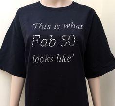 50th birthday , birthday tshirt , 50 birthday gift , birthday shirt , by personaliseddiamante on Etsy