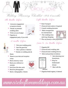 1 Wedding Planning Checklist 12 To 6 Months Before Our Free Timeline