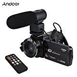 Andoer Full HD WiFi Digital Video Camera Camcorder with External Microphone Rotatable LCD Touchscreen Remote Control Support LED Lamp Digital Zoom, Silver Best Hd Video, Full Hd Video, Cameras For Sale, Camera Gear, Best Camera, Camera Accessories, Camcorder, Hd 1080p