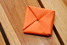 Fold Paper Into a Secret Note Square