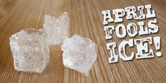 DIY fake ice for April Fool's Day