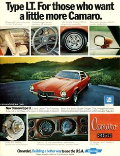 1973 Camaro LT - For those who want a little more Camaro - Original Ad