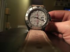 Rolex Yachtmaster with leather strap