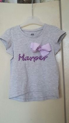 Bow/name shirt