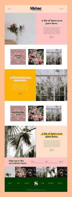 Shine Website Theme by Snug Designs - - Website Design Inspiration, Best Website Design, Portfolio Website Design, Website Design Layout, Wordpress Website Design, Blog Layout, Wordpress Theme Design, Web Layout, Wordpress Free