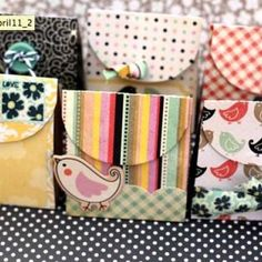 These would be cute for Visiting teaching....I have tons of paper scraps and embelishments to use up.
