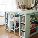 DIY craft room table - Knock off Decor site w/tons of great ideas.