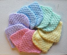 Newborn Caps - Baby Hats - Crochet Pattern $1.00 [http://www.craftsy.com/pattern/crocheting/Accessory/Newborn-Caps---Baby-Hats/2155]
