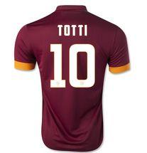 A.S.Roma 2014-2015 season TOTTI #10 HOME SOCCER JERSEY SHIRT [PF1411101050]