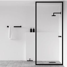 Minimalist black and white bathroom