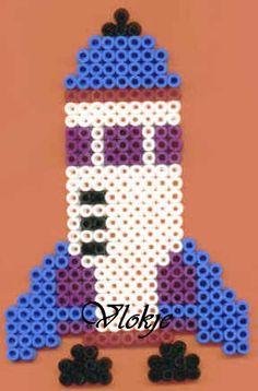 Rakete Bügelperlen / Rocket  hama perler beads http://mistertrufa.net/librecreacion/culturarte/?p=12