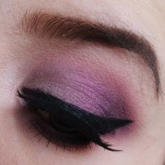 "A look i created when i got my ""sensuous"" shadow from makeup geek :-) I started by adding Sensuous shadow on the lid. Then proceeded with the Purple Rain i"