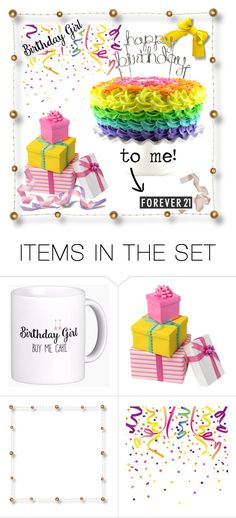 """""""It's My Birthday!"""" by istyled ❤ liked on Polyvore featuring art, birthday, cake, happybirthday, gemini and celebrate"""