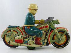 1950 P D Harley Davidson Highway Patrol Police Motorcycle TIN Toy big Size | eBay