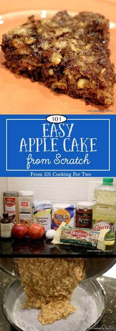 FABULOUS. So simple to prepare, this easy apple cake will leave them asking for the recipe. So delicious you won't believe you did that. via @drdan101cft