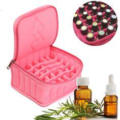 Aceites esenciales botella titular bolsa Organizador de almacenamiento de lápiz labial almacenamiento de terciopelo caja de caja de aromaterapia ajustable