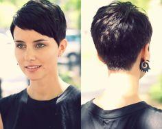 This is my first choice haircut. Love the asymmetrical bangs.
