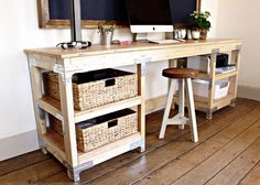 """very functional and sturdy table. can be used for anything, console table, computer desk, kids play table.  free up space in your room with this spacious table.  dimensions on this table are 30"""" tall , 84"""" long and 22"""" wide.  if these measurements do not work for your space, i can shorten or lengthen any of them to accommodate your needs.   custom painting available. i do wide array of wood projects using reclaimed, recycled wood and model them off ideas from you Pinterest and Etsy. Feel…"""