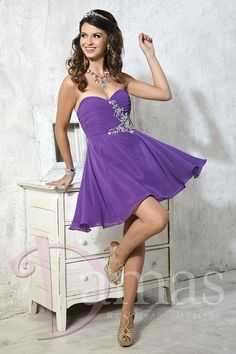 Ruched strapless sweetheart bodice with beaded side appliqué and short chiffon skirt. Lace-up back. Chiffon - See more at: http://www.joyfuleventsstore.com/party-dama-dresses/dama-dresses/dama-dress-52341/#sthash.YTHaLX0y.dpuf