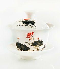 Traditional Lotus Flower Gaiwan Cup - 3.4 fl oz