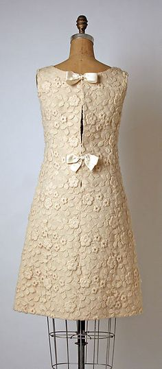 André Courrèges  Evening dress (back view) - French 1964-65  Silk, wool