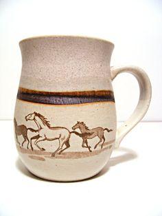 Otagiri mug with horses by ScribbleFitz on Etsy