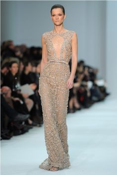 Another gorgeous Elie Saab Houte Couture Spring/Summer '12. I love the beading on this.