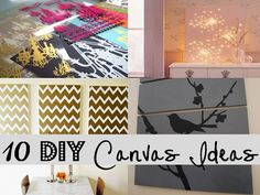 10 DIY ideas for basic white canvases!