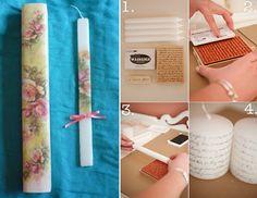 Ιδέες για κατασκευή χειροποίητων πασχαλινών λαμπάδων - Διάφορα υλικά και τεχνικές! - Toftiaxa.gr | Κατασκευές DIY Διακοσμηση Σπίτι Κήπος Blog, Handmade, Hand Made, Craft, Handarbeit