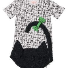 BANGBANG Copenhagen Cool Cat Dress - the perfect wee dress for your little kitty. A fun short sleeved dress with a large black sparkly fluffy cat with a pretty green bow. Pink T Shirt Dress, Cat Ears And Tail, Cat Dresses, Short Sleeve Dresses, Dresses With Sleeves, Little Kitty, Sleeved Dress, Fluffy Cat, Pretty Green