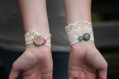 pulseiras de renda