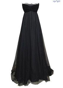 Peter SOM Fall Runway Velvet Black Bustier Lace Gown Evening Dress Long 2 XS   eBay