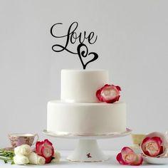 Love Wedding Cake Topper Love Cake Topper Romantic Cake Topper Wedding Cake Topper Love Elegant Cake Topper Cake Decor Cake Topper