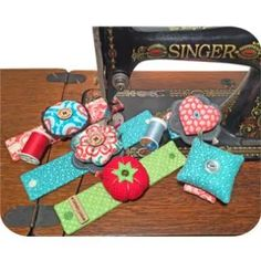 Embroider & Sew :: Wrist Pincushions - Embroidery Garden In the Hoop Machine Embroidery Designs