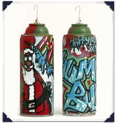 #upcycled spray paint can ornaments by @Brian Flanagan Van Liew II