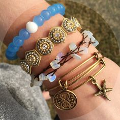 A symbol of balance - just a little reminder to stay positive through life's challenges. The blue limited edition Lokai bracelet is so cute :)