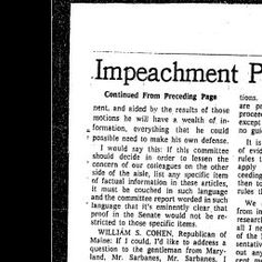 Impeachement Trials being for Richard Nixon: TimesMachine: July 27, 1974 - NYTimes.com