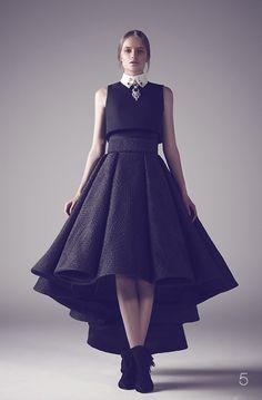 Black high low gown | Ashi Studio Fall 2015 Couture Wedding Dresses via @WorldofBridal