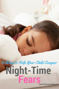 Are you tired of getting up in the middle of the night with your kid when they are scared? Are they afraid of the dark? Help your child soothe night time fears and get rid of scary things with these 12 ideas for helping your boys and girls stop being afraid at bedtime.