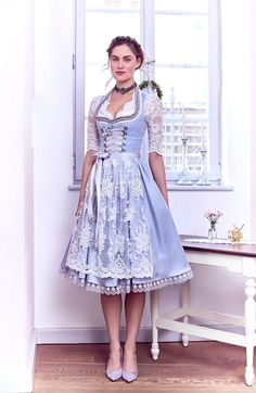silk & pearls / traditional fashion & designer dirndl The Effective Pictures We Offer You About Global Fashion style A quality picture can tell you many things. Drindl Dress, The Dress, Dress Outfits, Traditional Fashion, Traditional Dresses, Organza, Vintage Dresses, Vintage Fashion, Wedding Dresses