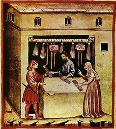Tacuina sanitatis (XIV century) -aspetti di vita quotidiana, illuminazione; Author: unknown master