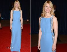 Claire Danes looks lovely in this Prada gown. I love how the detail elevates this minimalist gown.